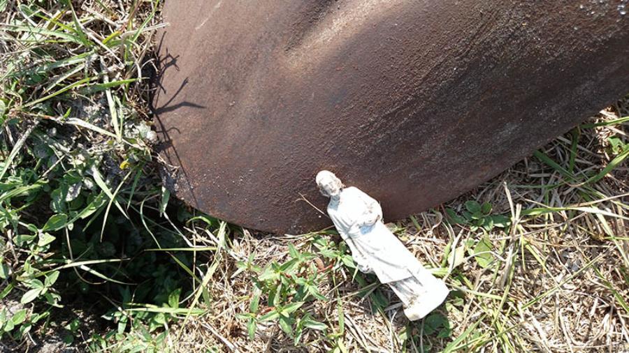 St. Joseph dug up