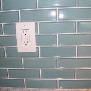 Kelli tile backsplash